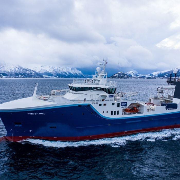 Kongsfjord: System for vått mottak  før el-bedøving og direkte kapping